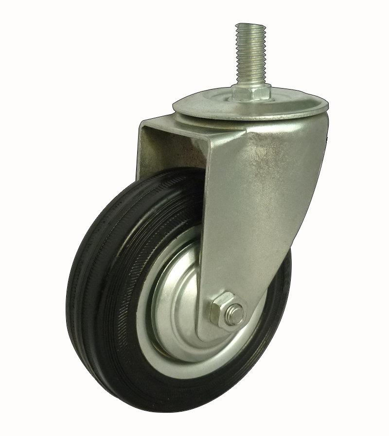 Threaded stem industrial caster